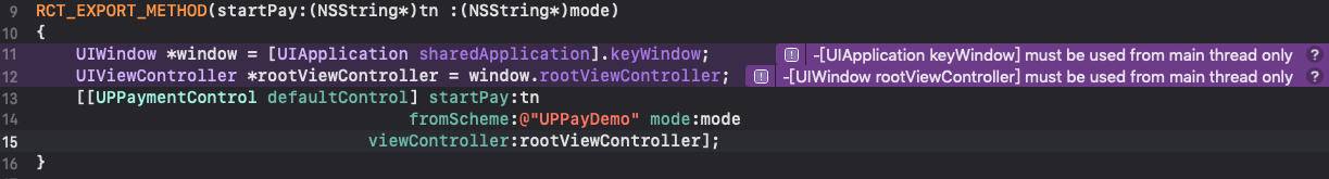 [UIApplication keyWindow] must be used from main thread only,[UIWindow rootViewController] must be used from main thread only