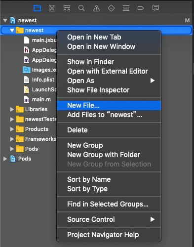 在项目下新建一个 swift 文件