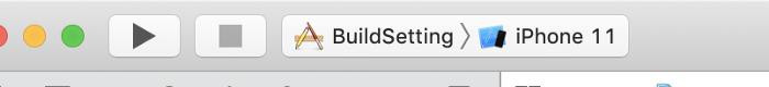 BuildSetting is Simulator